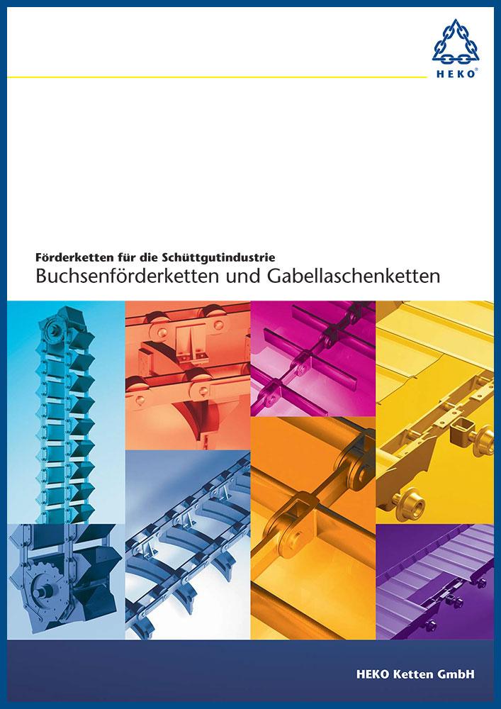 HEKO Förderketten für die Schüttgutindustrie, Buchsenförderketten und Gabellaschenketten, DE