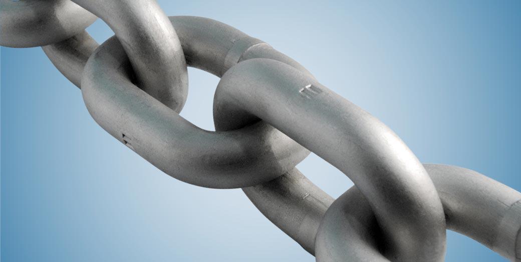 Round link chains WN