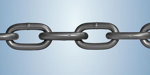 Round link chains
