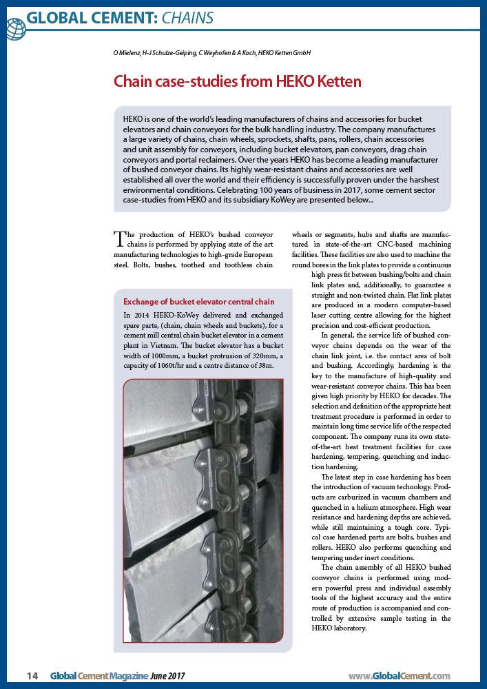 HEKO Chain CaseStudies Global-Cement 06_2017