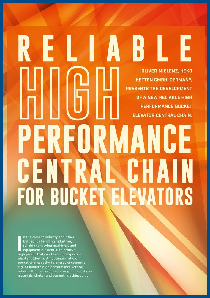 HEKO Reliable High Performance Central Chain for Bucket Elevators World-Cement 01_2017